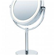 VOKIŠKI BEURER apšviečiamas kosmetinis veidrodis BS69 (BS 69)  integruotu led apšvietimu tik su laidu.