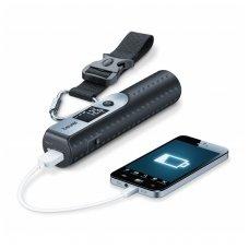 Beurer Rankinio bagažo svarstyklės LS50 (LS 50)žibintuvėlis+pakraunama papildoma baterija telefonui 5000 mAh.